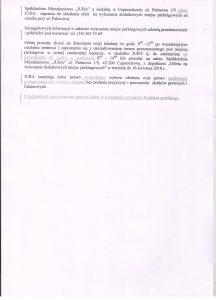 Ogłoszenia w sprawie składania ofert na wykonanie dodatkowych miejsc parkingowych